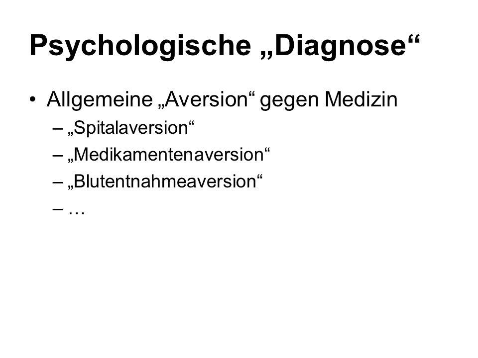 """Psychologische """"Diagnose"""