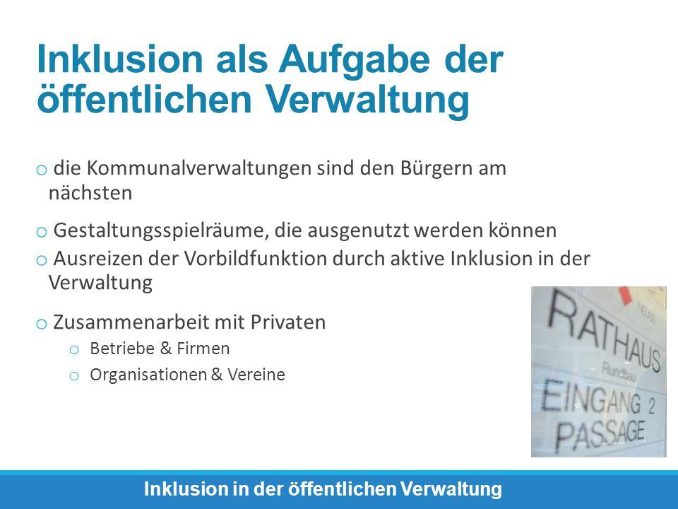 Inklusion in der öffentlichen Verwaltung