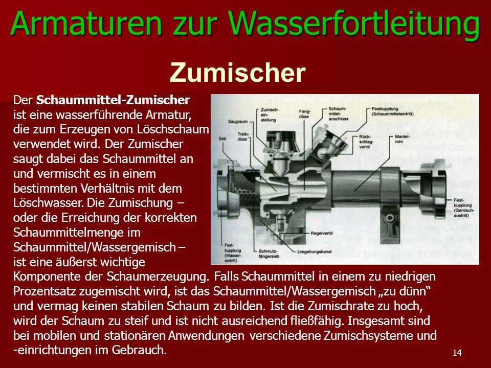 Armaturen zur Wasserfortleitung