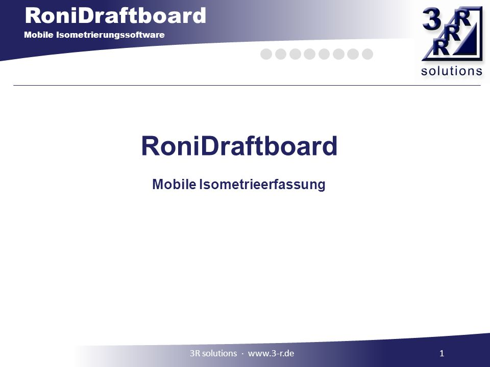 Mobile Isometrieerfassung