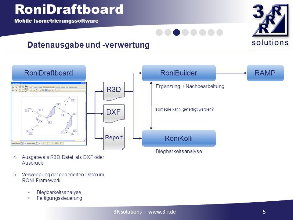 Datenausgabe und -verwertung