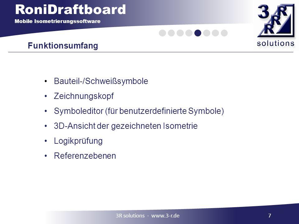 Bauteil-/Schweißsymbole Zeichnungskopf