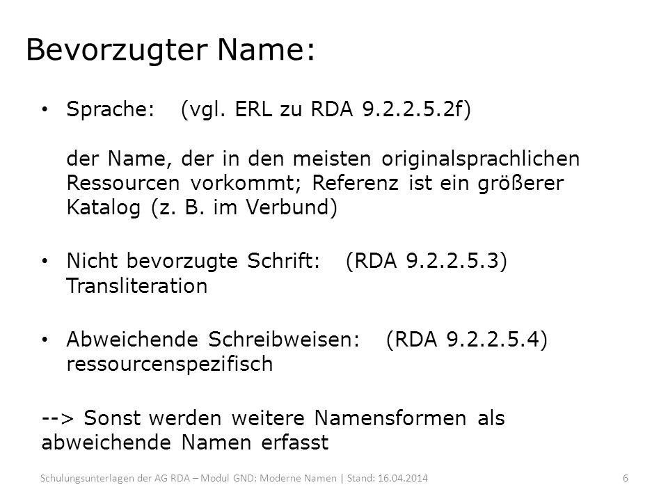 Bevorzugter Name: