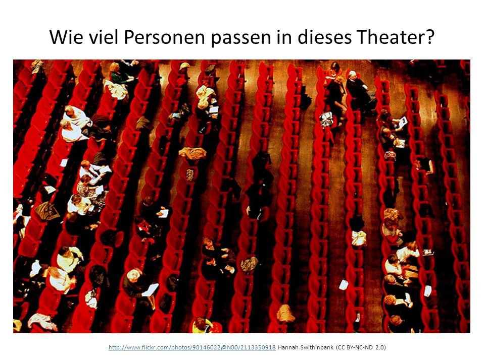 Wie viel Personen passen in dieses Theater