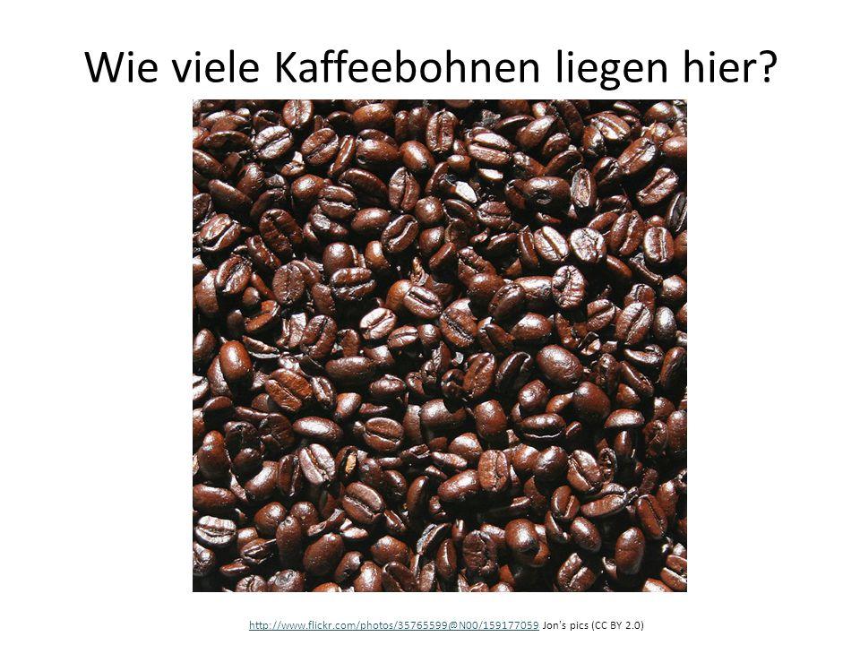 Wie viele Kaffeebohnen liegen hier