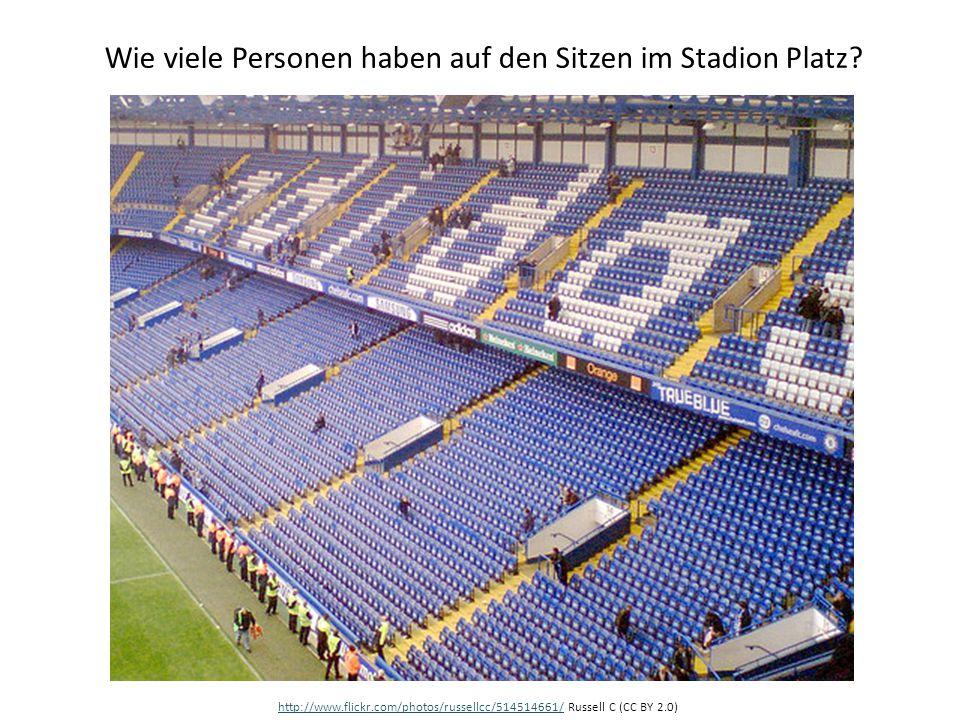 Wie viele Personen haben auf den Sitzen im Stadion Platz