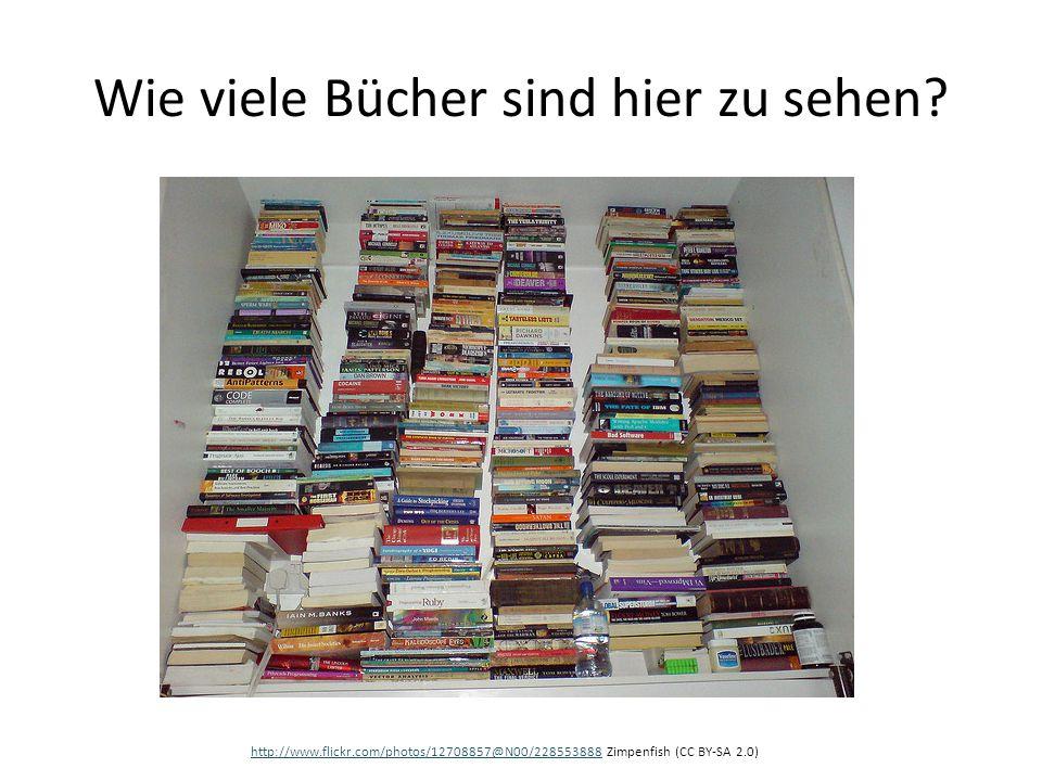 Wie viele Bücher sind hier zu sehen