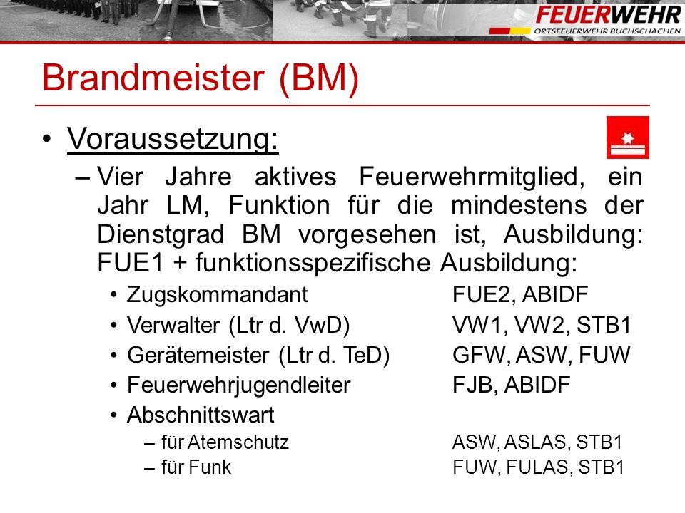 Brandmeister (BM) Voraussetzung: