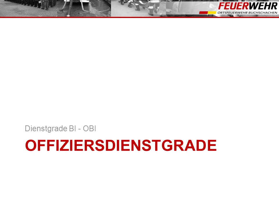 Offiziersdienstgrade