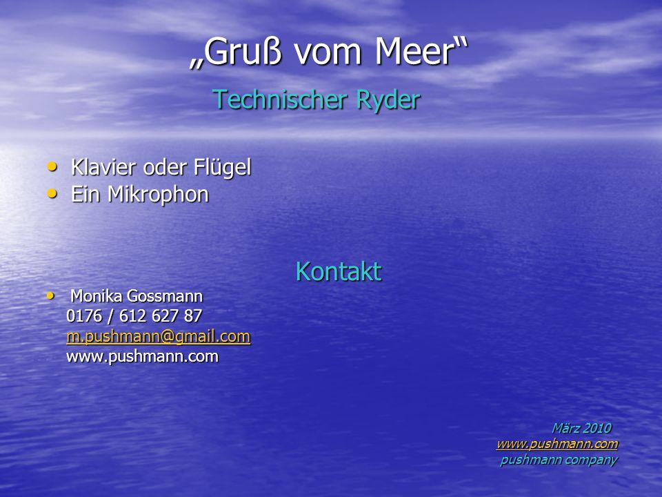 """""""Gruß vom Meer Technischer Ryder"""