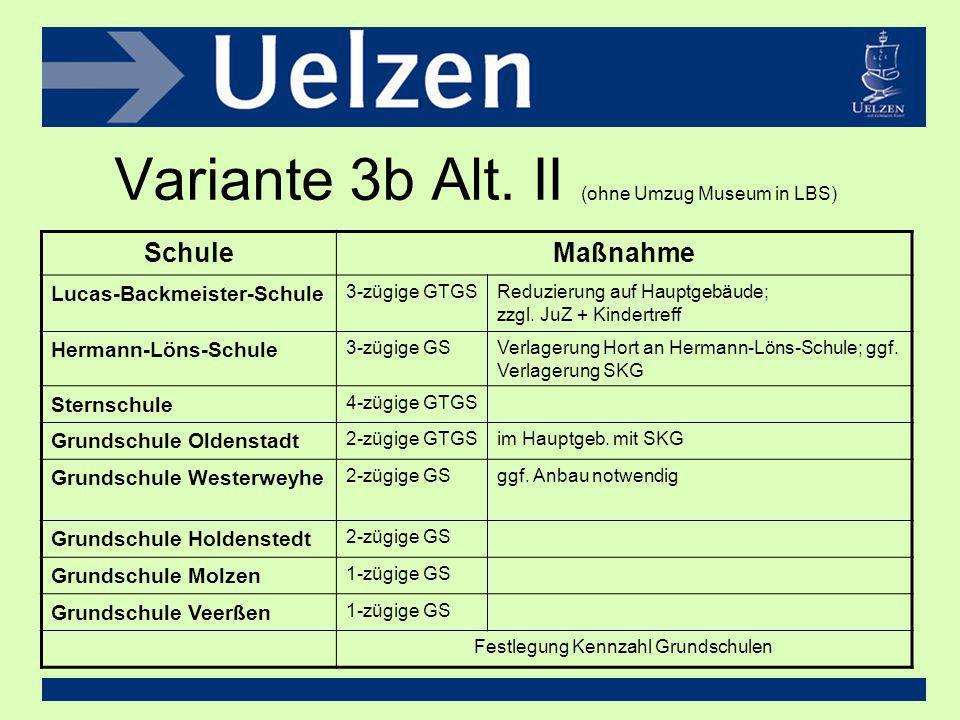 Variante 3b Alt. II (ohne Umzug Museum in LBS)