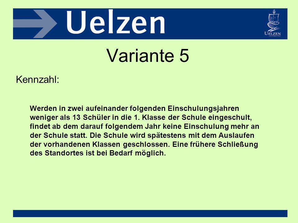 Variante 5 Kennzahl:
