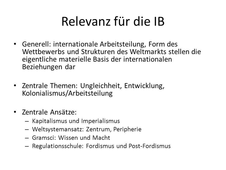 Relevanz für die IB