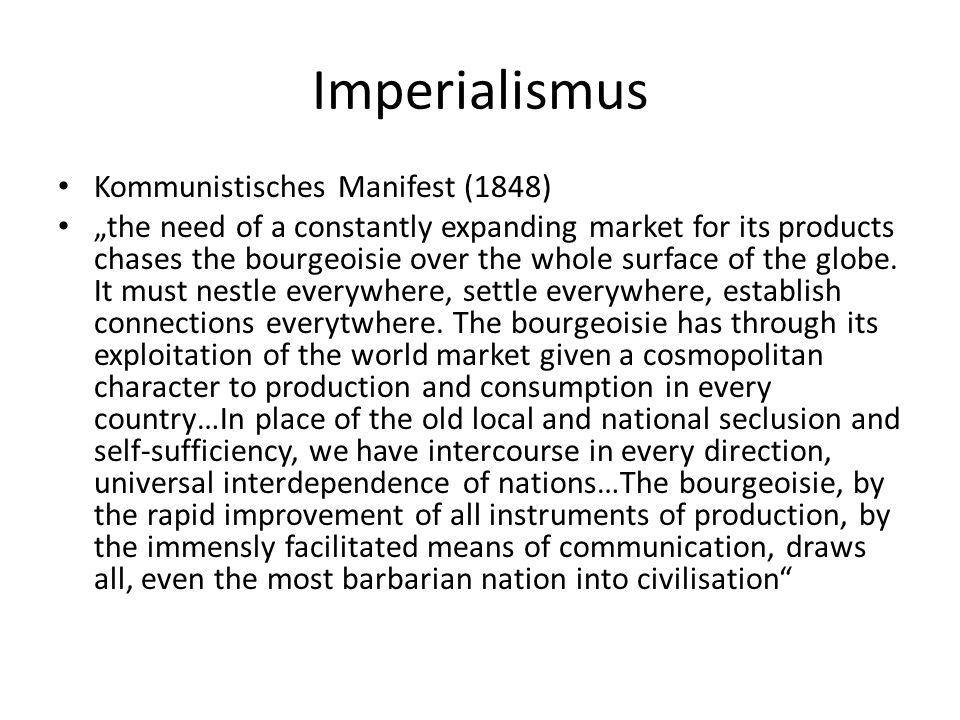 Imperialismus Kommunistisches Manifest (1848)