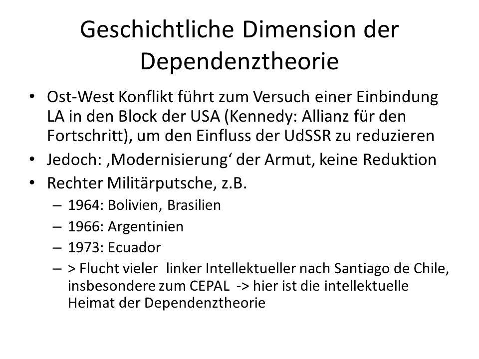 Geschichtliche Dimension der Dependenztheorie