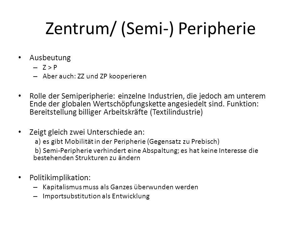 Zentrum/ (Semi-) Peripherie