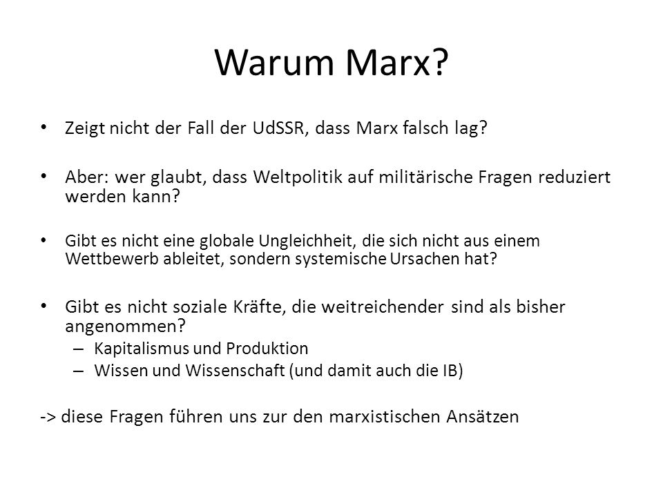 Warum Marx Zeigt nicht der Fall der UdSSR, dass Marx falsch lag