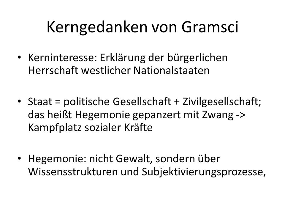 Kerngedanken von Gramsci