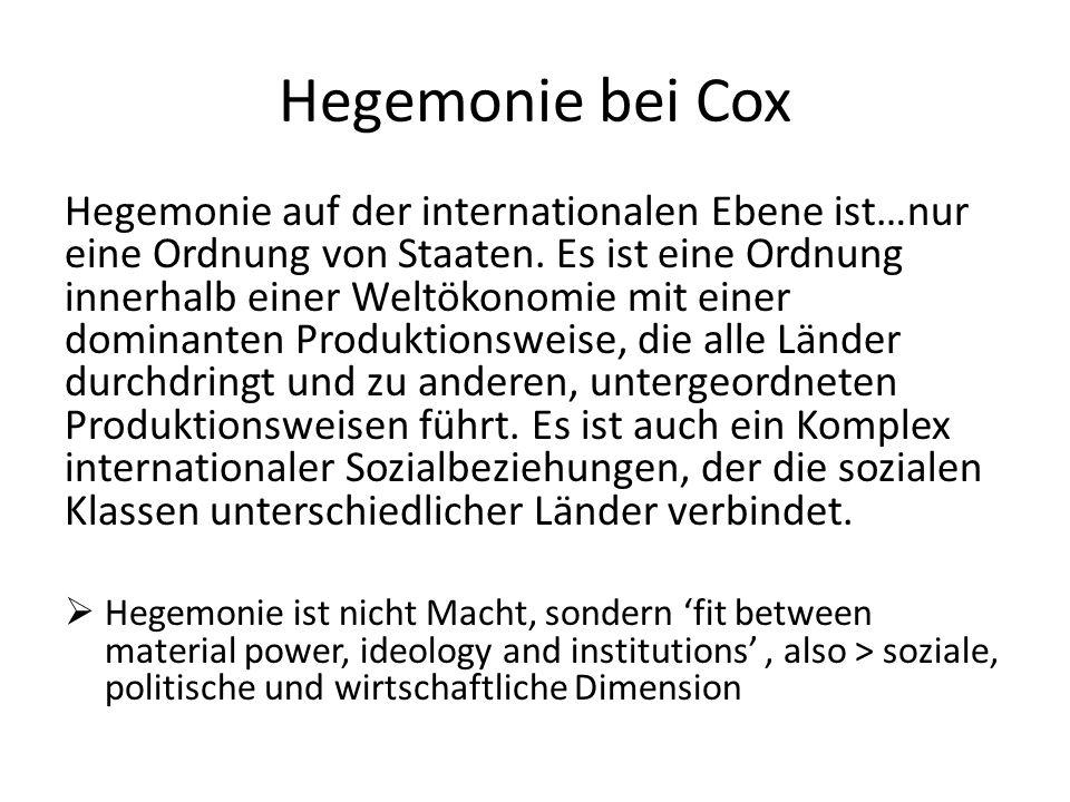 Hegemonie bei Cox