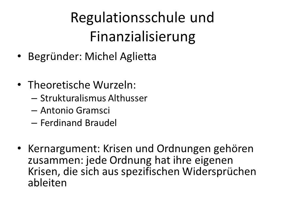 Regulationsschule und Finanzialisierung