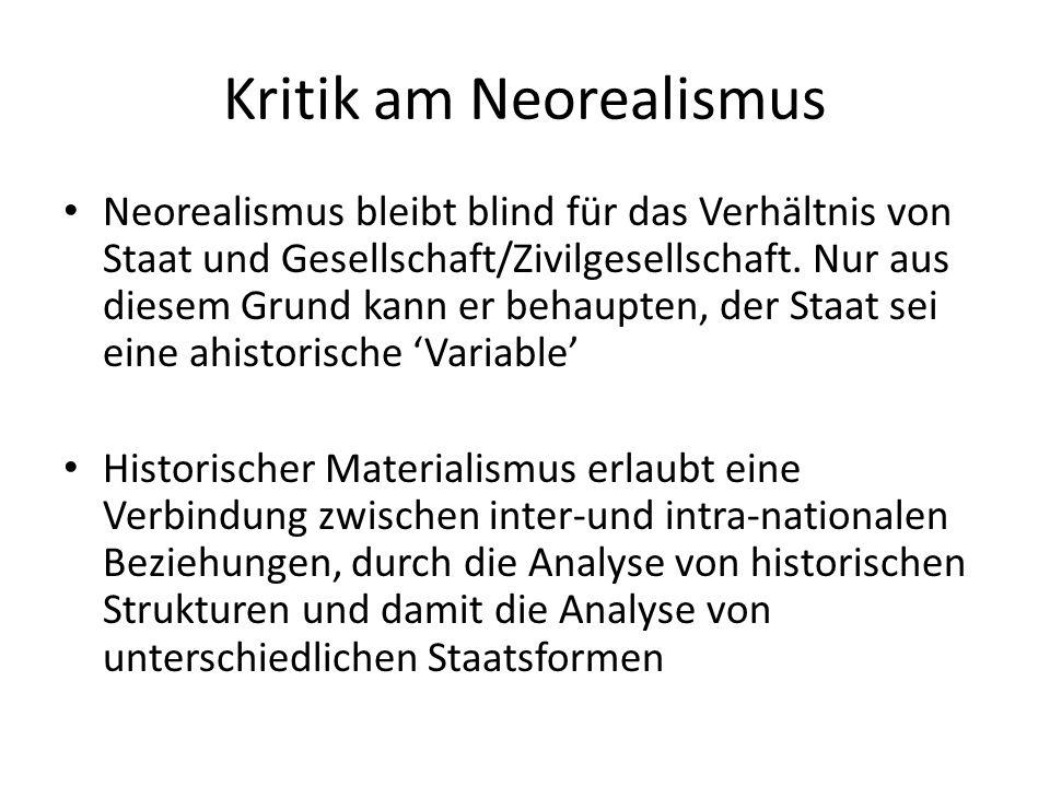 Kritik am Neorealismus