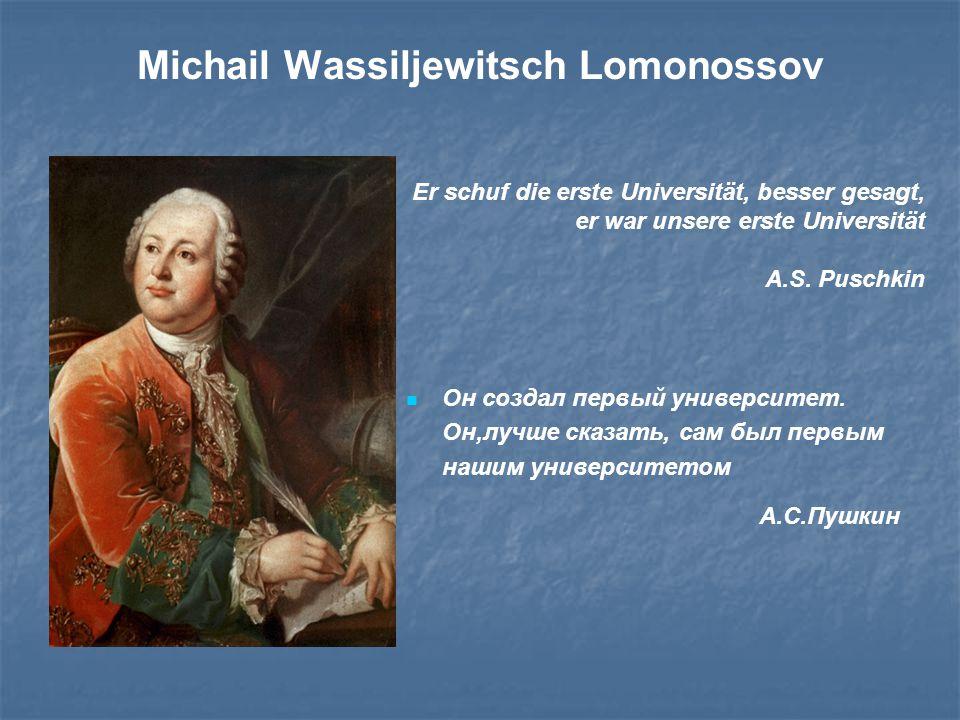Michail Wassiljewitsch Lomonossov
