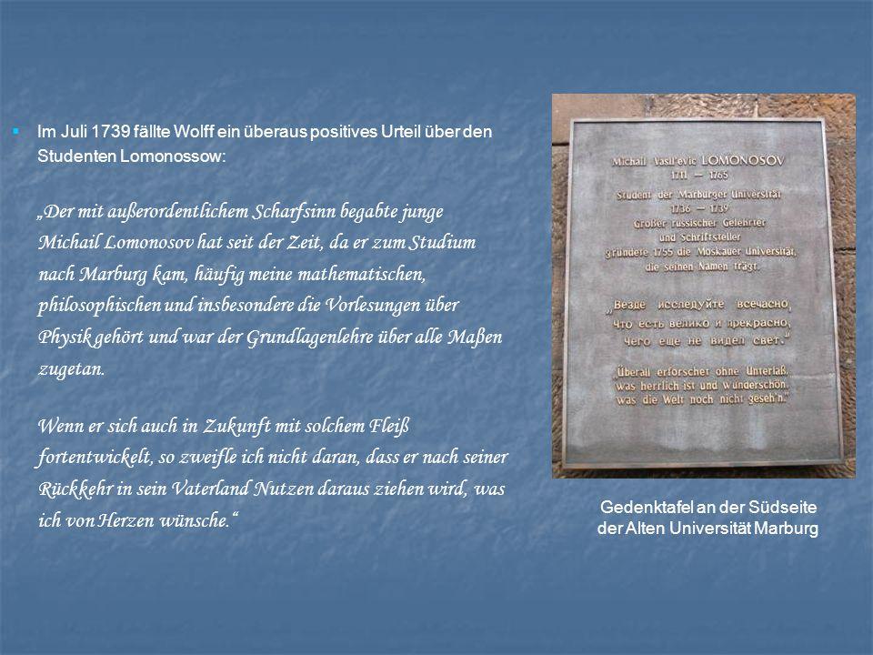 Gedenktafel an der Südseite der Alten Universität Marburg
