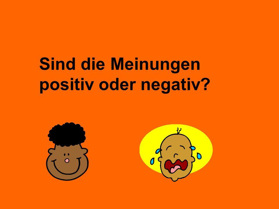 Sind die Meinungen positiv oder negativ
