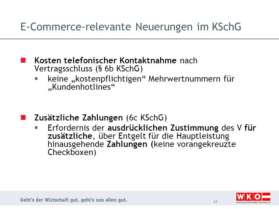 E-Commerce-relevante Neuerungen im KSchG
