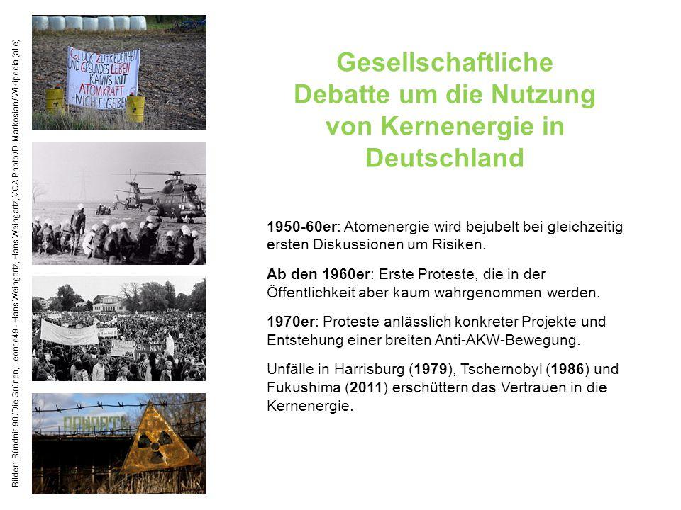 Gesellschaftliche Debatte um die Nutzung von Kernenergie in Deutschland