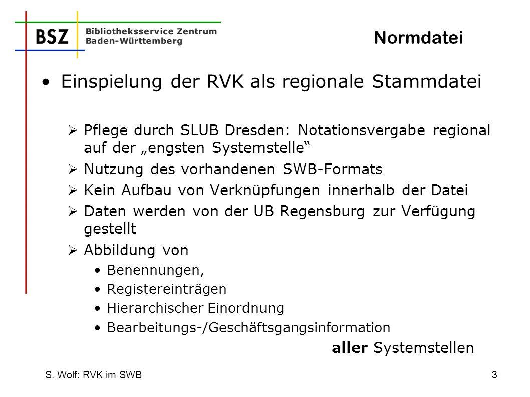 Einspielung der RVK als regionale Stammdatei