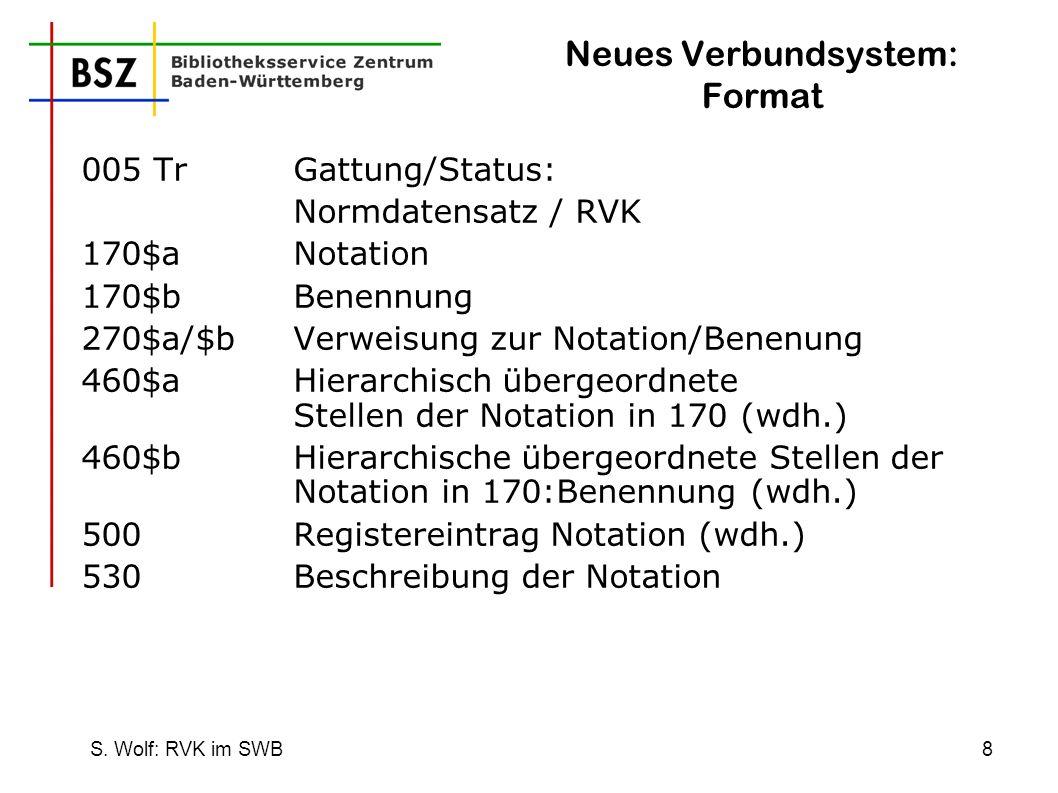Neues Verbundsystem: Format