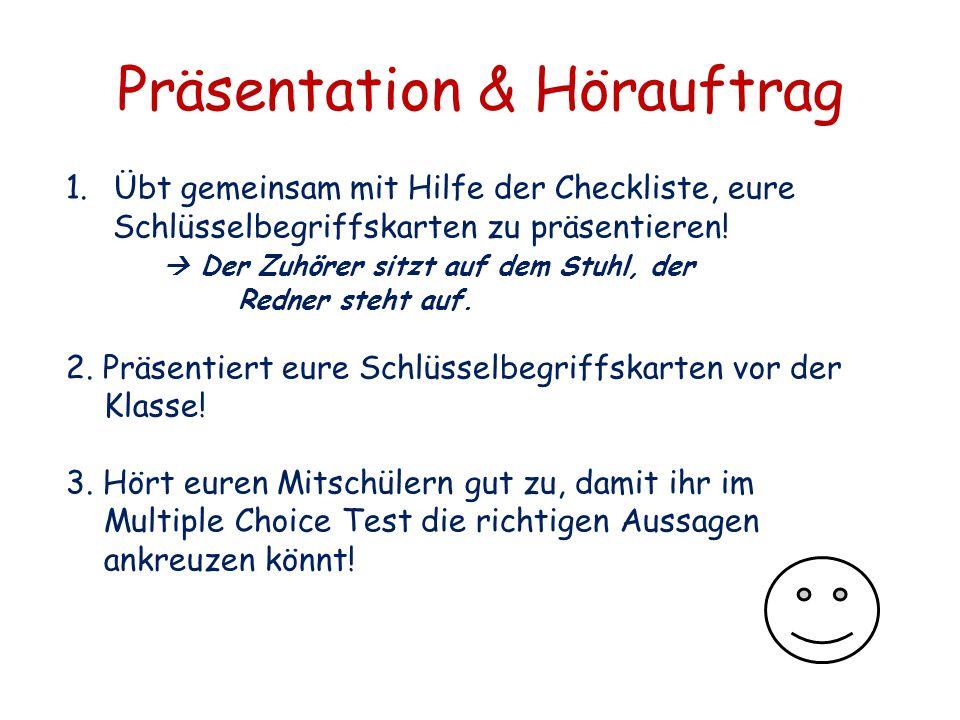 Präsentation & Hörauftrag