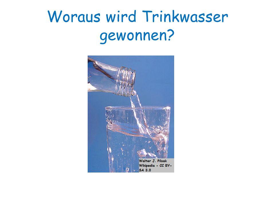Woraus wird Trinkwasser gewonnen