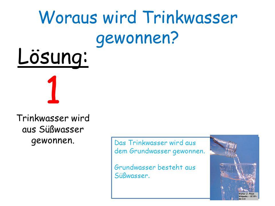 1 Lösung: Woraus wird Trinkwasser gewonnen