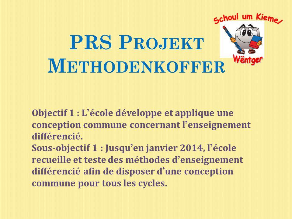 PRS Projekt Methodenkoffer