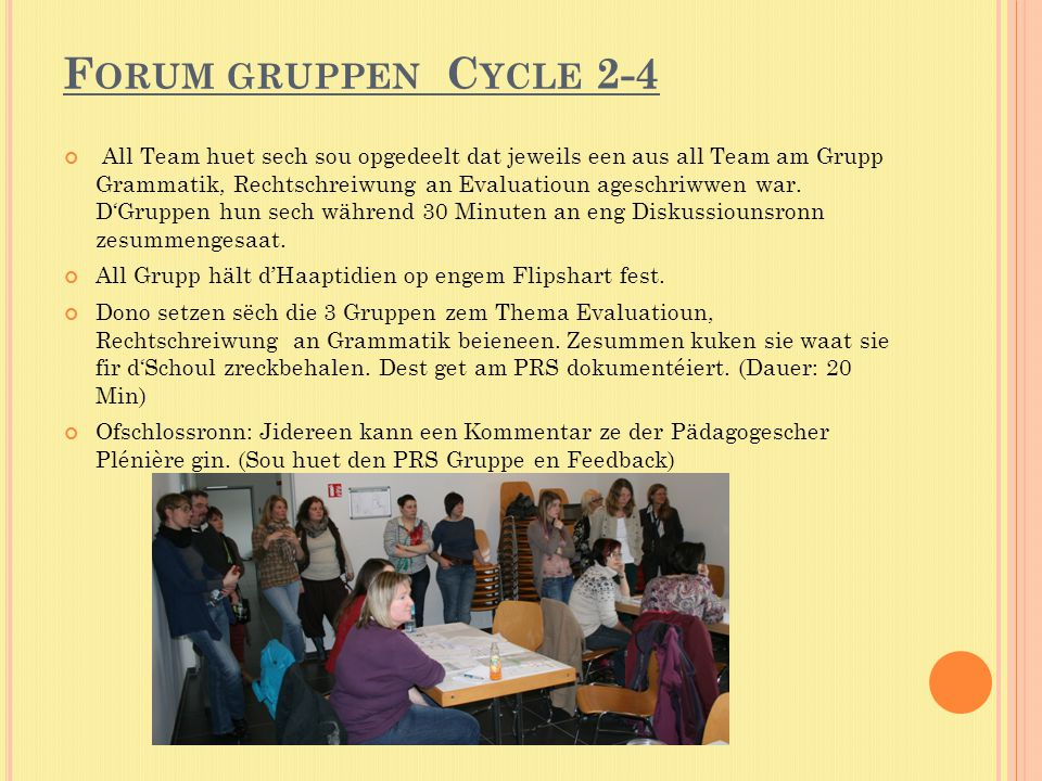 Forum gruppen Cycle 2-4