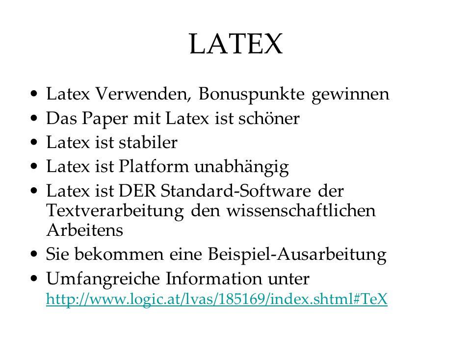 LATEX Latex Verwenden, Bonuspunkte gewinnen