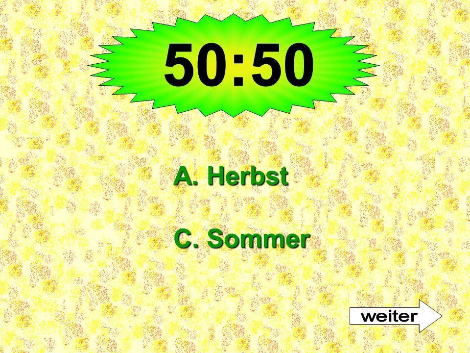 50:50 A. Herbst C. Sommer weiter