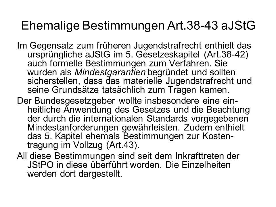 Ehemalige Bestimmungen Art.38-43 aJStG