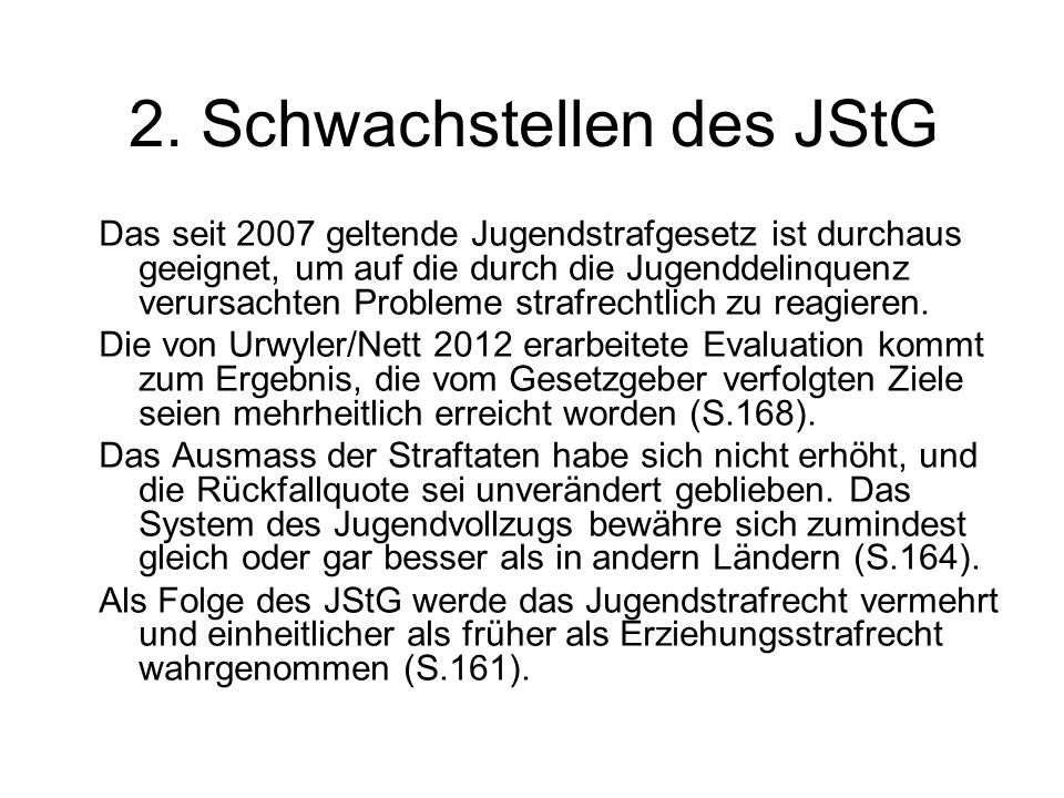 2. Schwachstellen des JStG