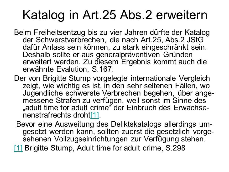 Katalog in Art.25 Abs.2 erweitern