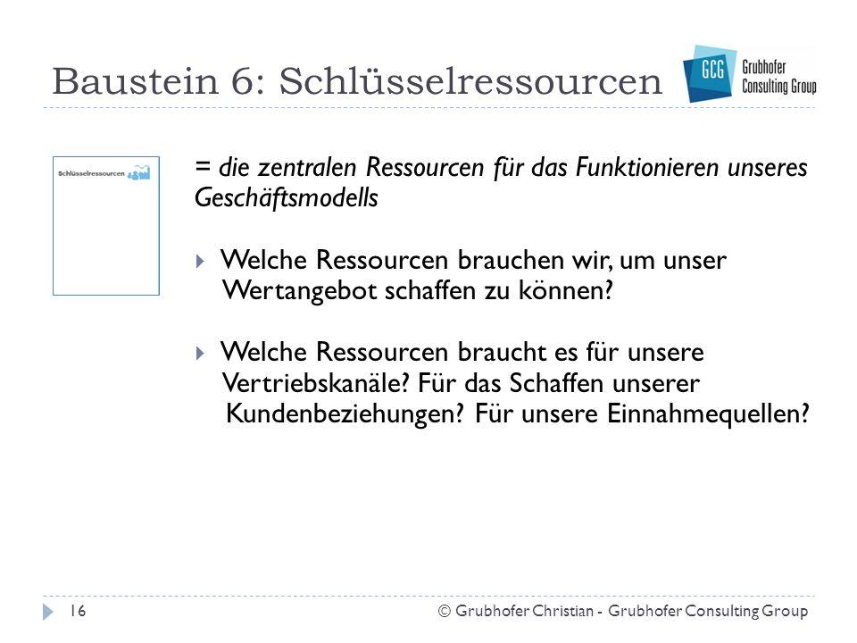 Baustein 6: Schlüsselressourcen