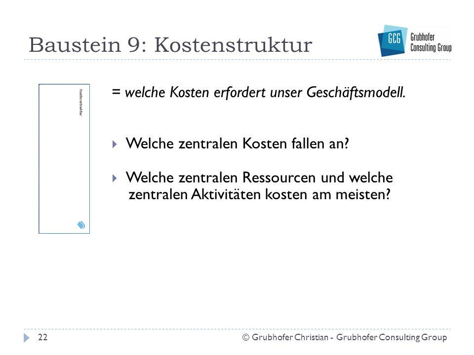 Baustein 9: Kostenstruktur