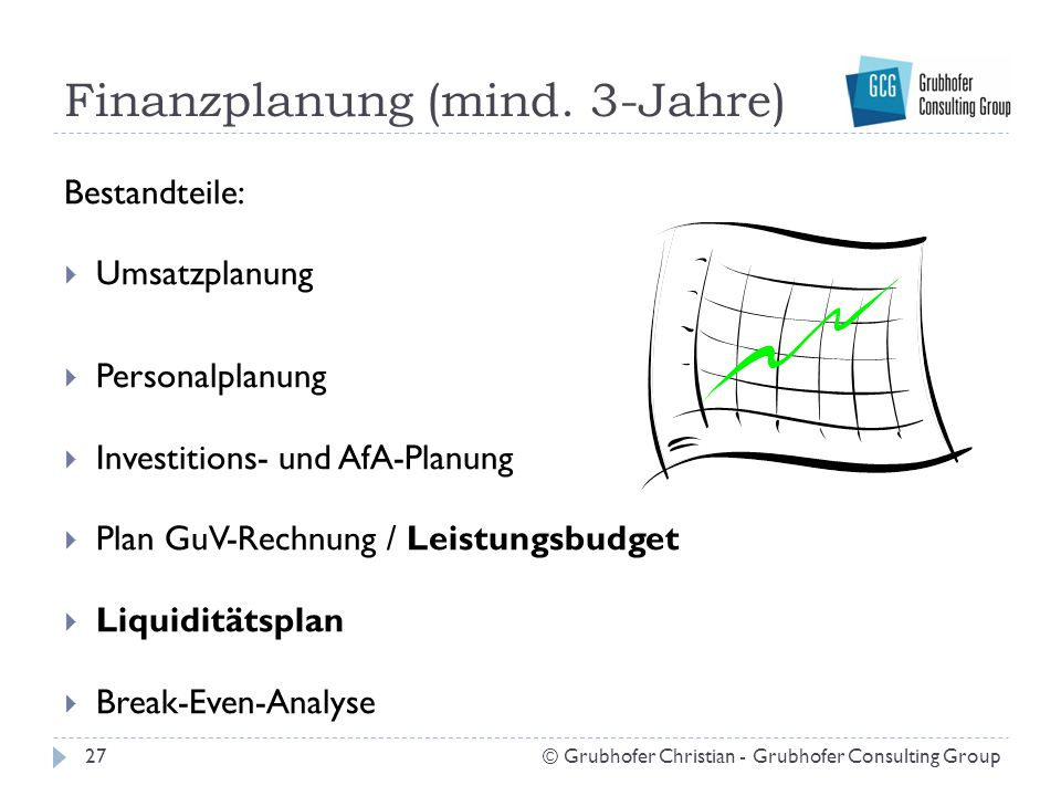 Finanzplanung (mind. 3-Jahre)