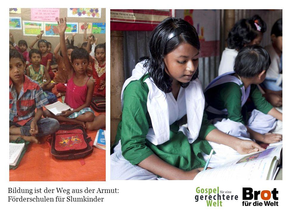 Bildung ist der Weg aus der Armut: