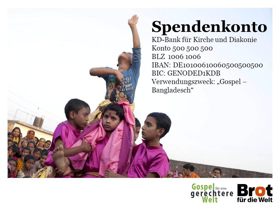 Spendenkonto KD-Bank für Kirche und Diakonie Konto 500 500 500