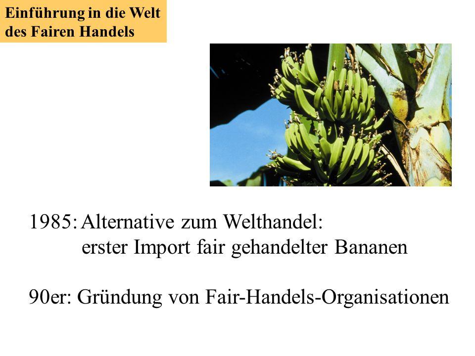 90er: Gründung von Fair-Handels-Organisationen