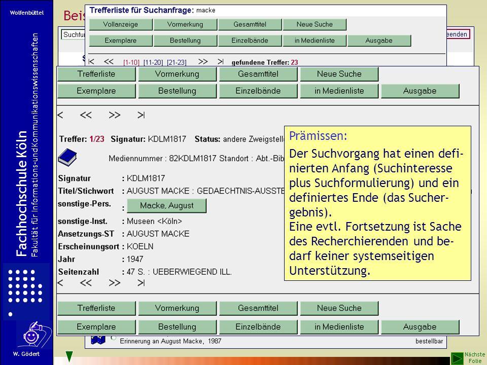 Beispiele für Standard-Suchumgebungen von OPACs: FHB Köln