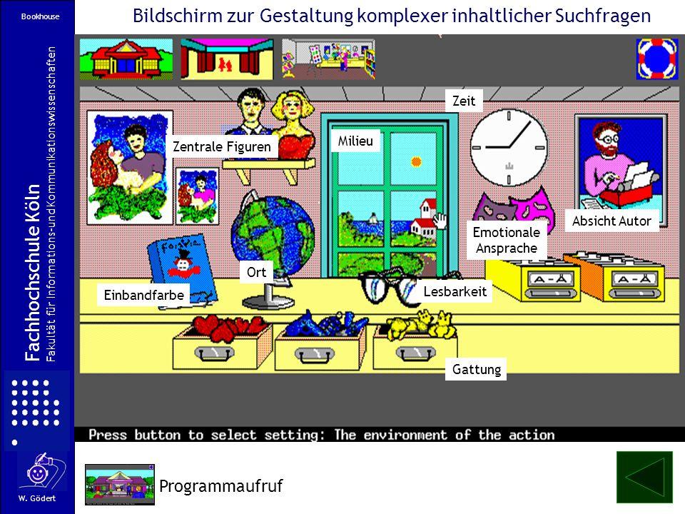 Bildschirm zur Gestaltung komplexer inhaltlicher Suchfragen